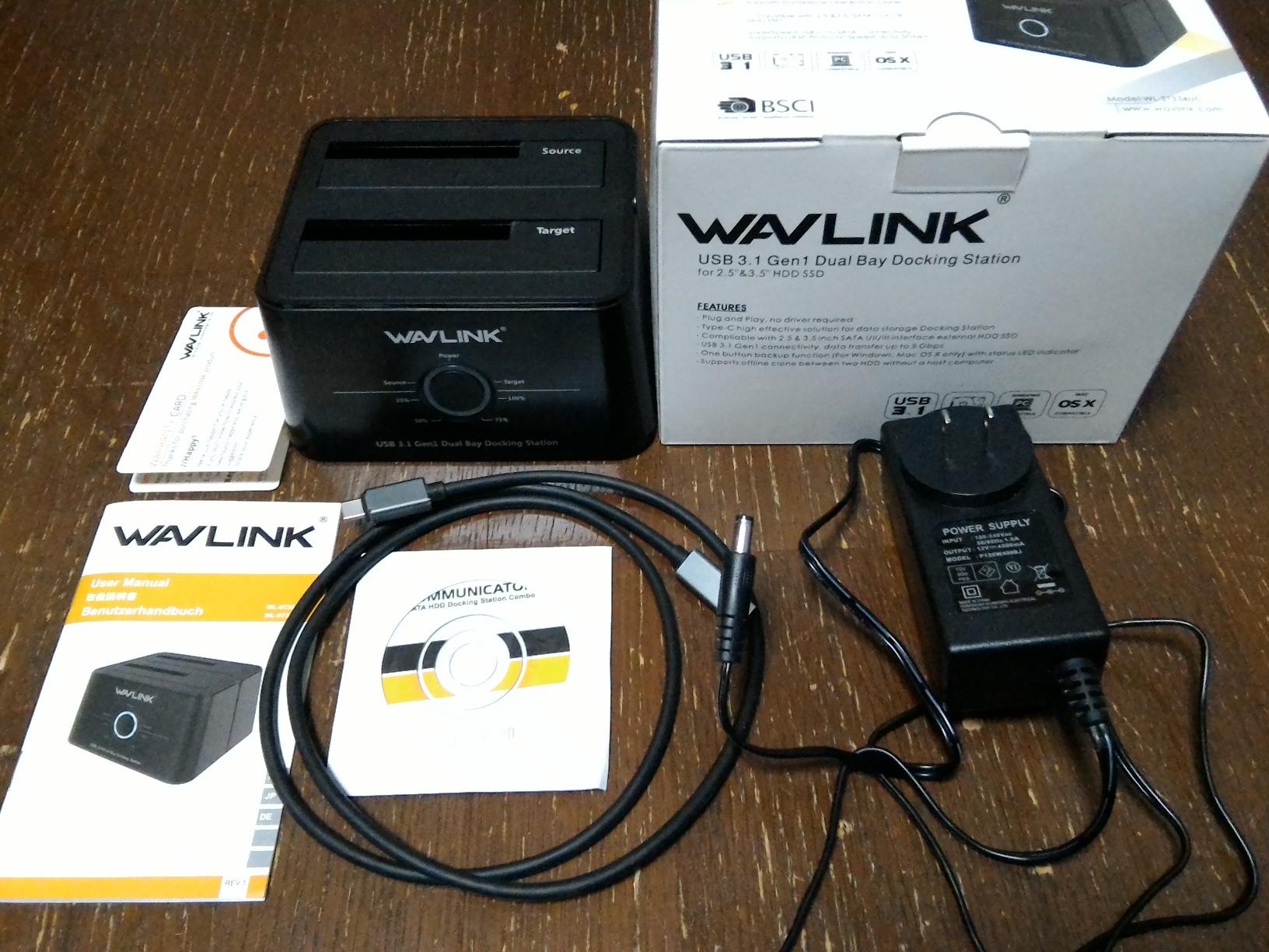 WAVLINK USB3.1タイプC デュアルベイドッキングステーション WL-ST334UCのレビュー
