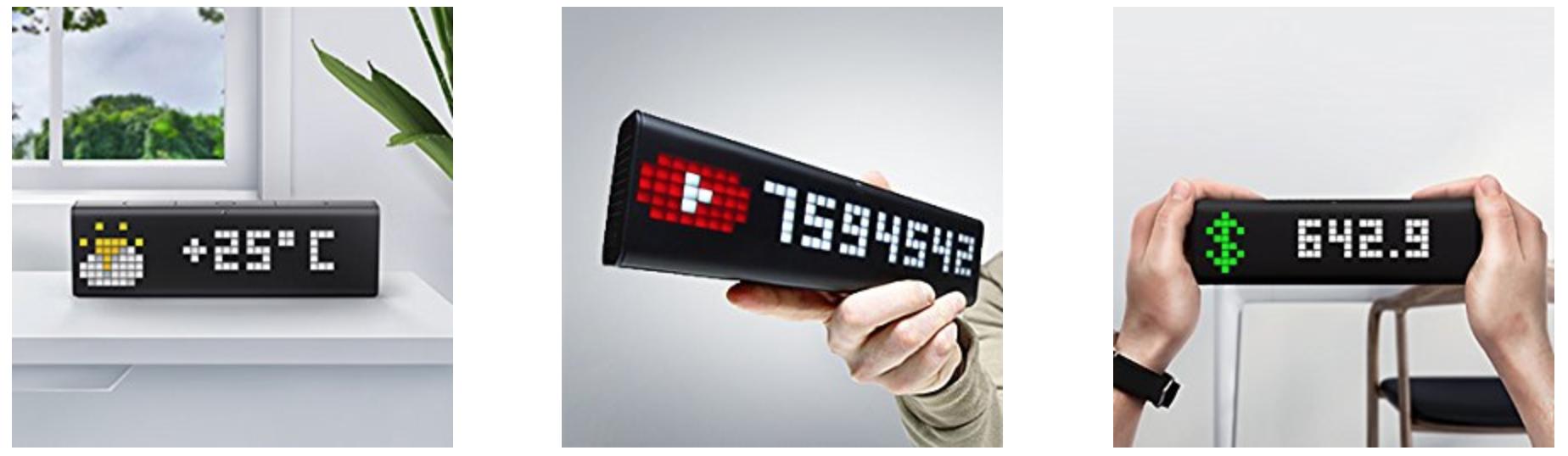 好きな情報を表示できるWiFiデジタル時計「LaMetric Time」が面白そう