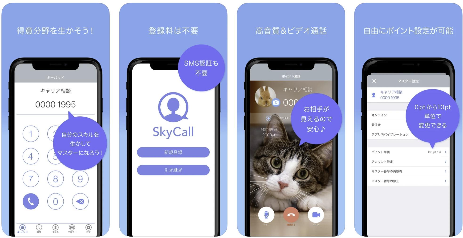 SkyPhoneから独立したポイント通話専用アプリ「SkyCall」とは